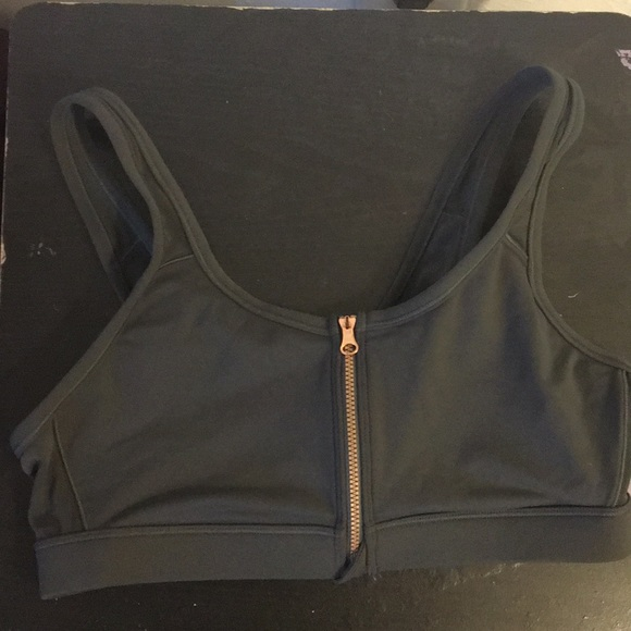 Aerie Intimates Sleepwear Move Front Zip Sports Bra In Gray